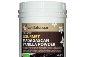500g Gourmet Organic Madagascan Vanilla Powder Jar