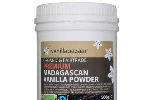 500g Premium Organic & Fairtrade Madagascan Vanilla Powder Jar