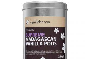 250g Supreme Organic Madagascan Vanilla Pod Tin