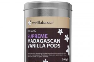 500g Supreme Organic Madagascan Vanilla Pod Tin