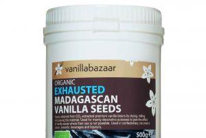 500g Organic Madagascan Vanilla Exhausted Seeds Jar