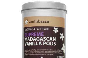 500g Supreme Organic & Fairtrade Madagascan Vanilla Pod Tin